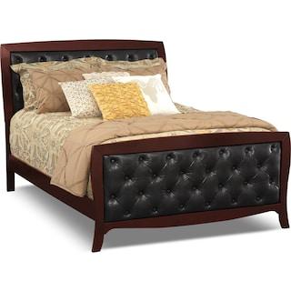 Jaden Merlot Upholstered Bed