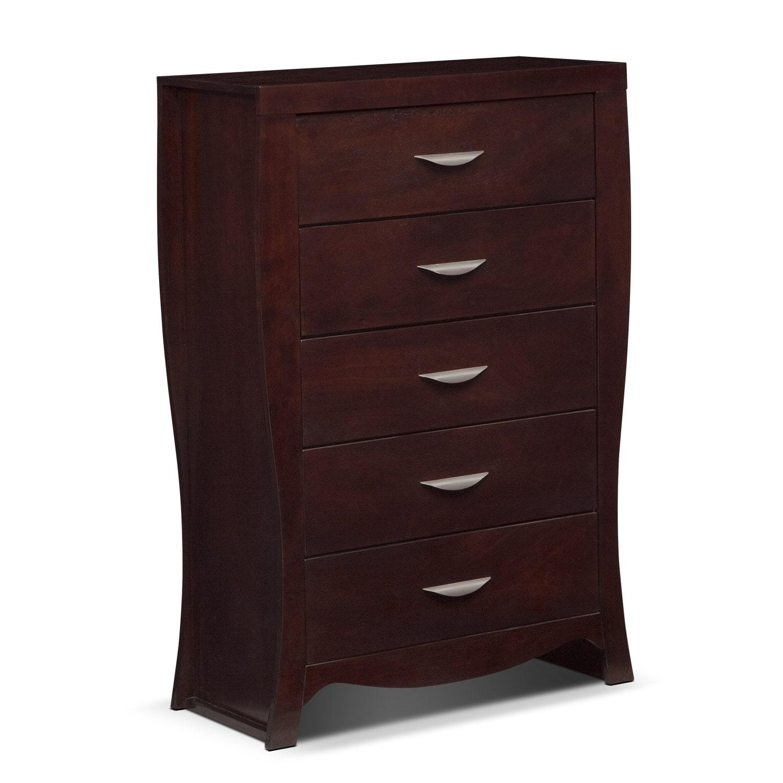 Kids Furniture - Jaden Chest - Merlot