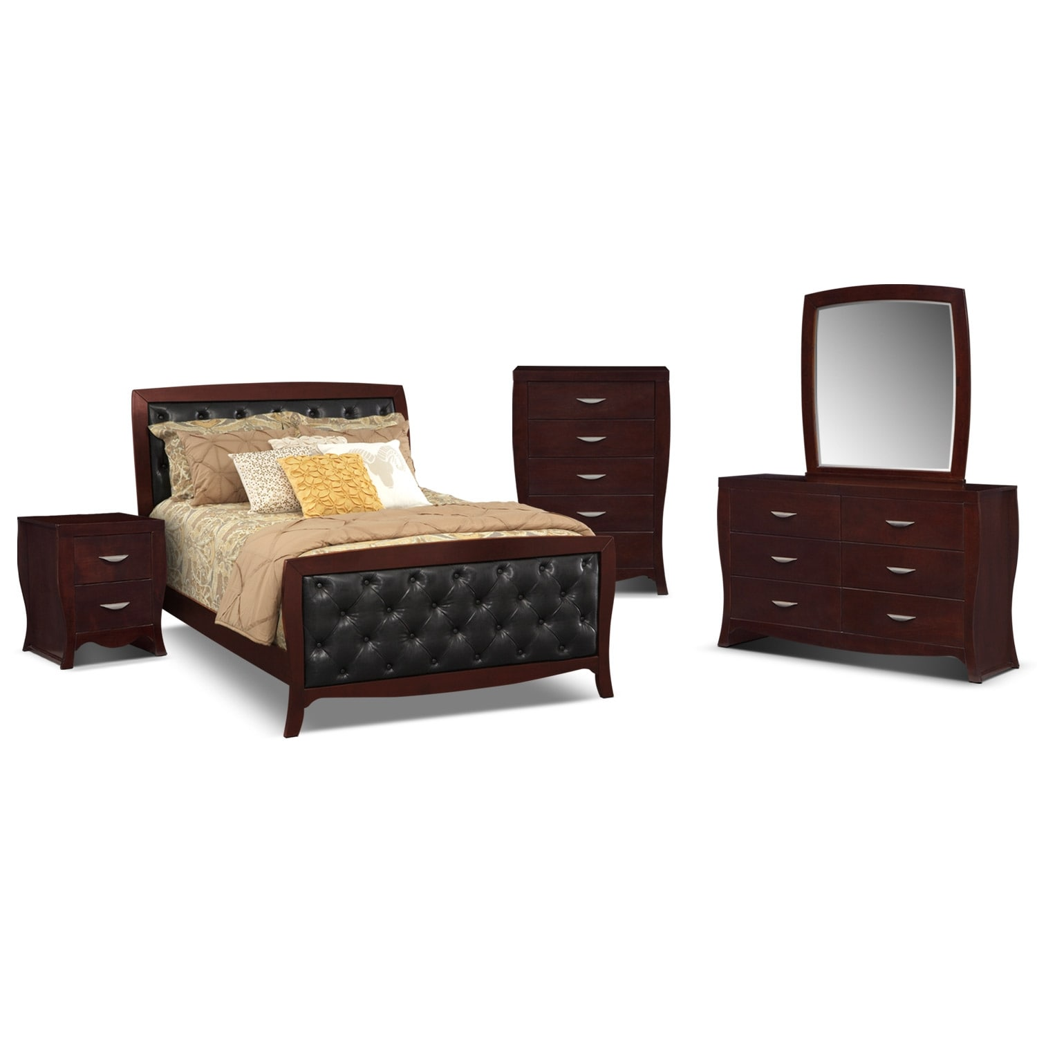 Bedroom Furniture - Jaden 7 Pc. Queen Bedroom