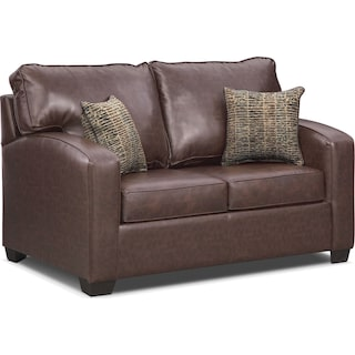 Brookline Twin Memory Foam Sleeper Sofa - Brown