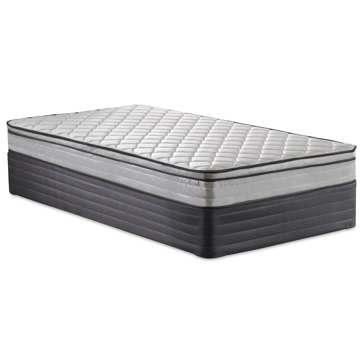 Mirage Medium Firm Twin Mattress and Foundation Set