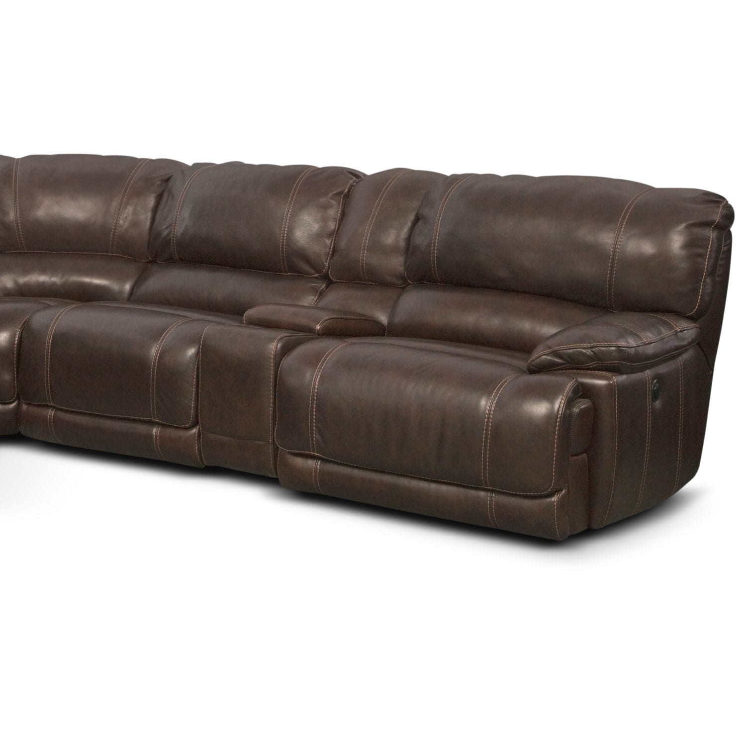 click sectional reclining with change facing to recliner sectionals chocolate product chaise piece seating item right image softie room power living big