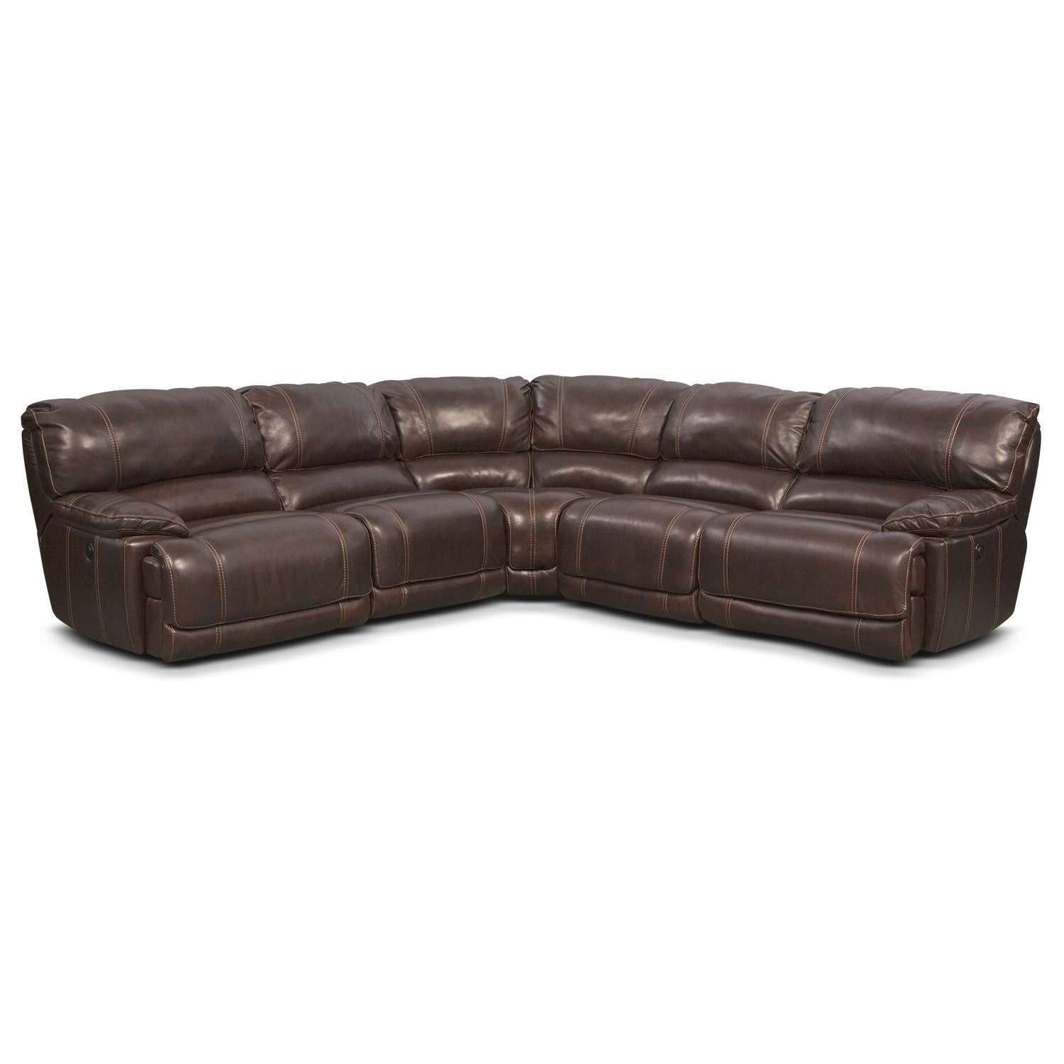 St. Malo 5 Piece Right Facing Power Reclining Sectional   Brown