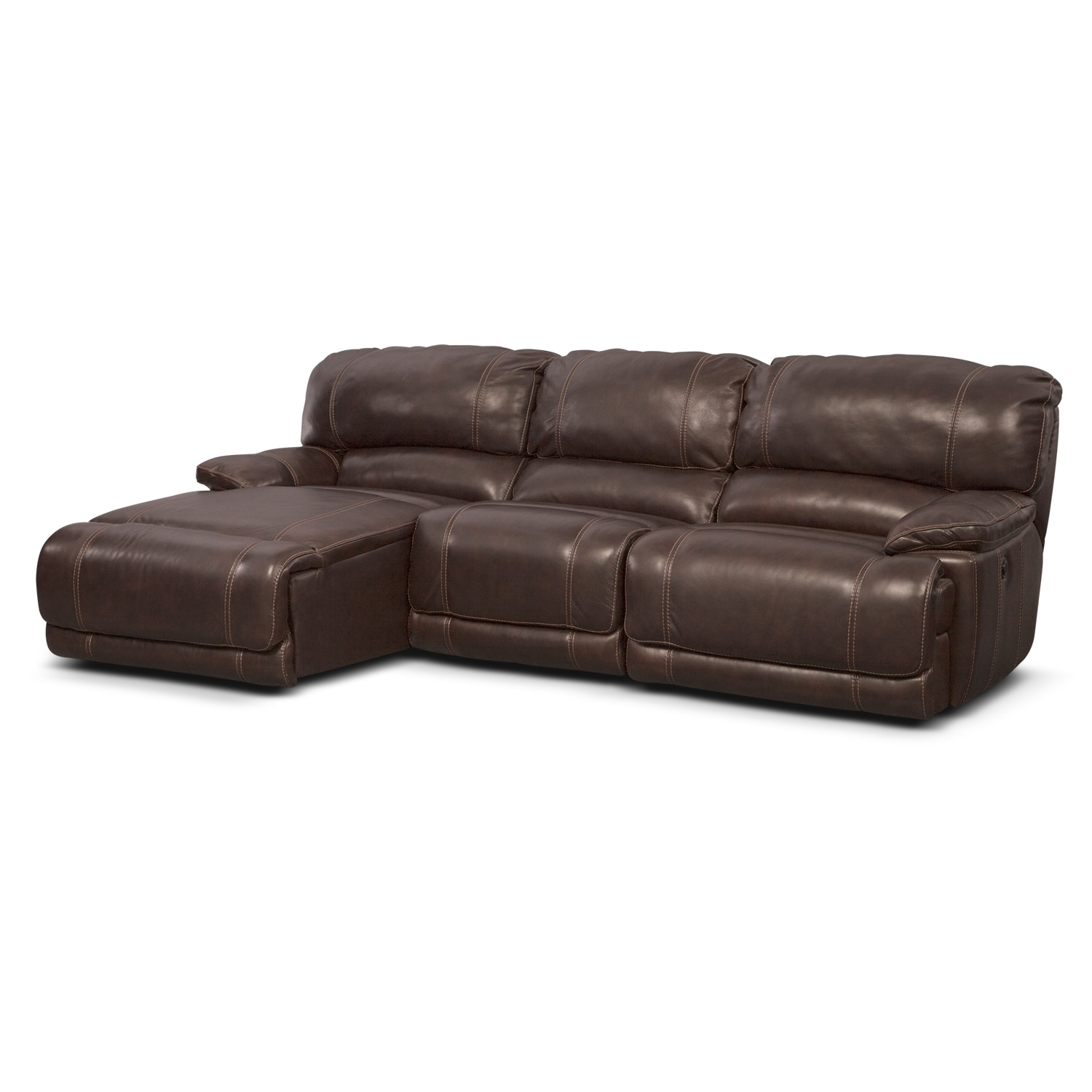 St. Malo 3-Piece Power Reclining Sectional with Left-Facing Chaise - Brown