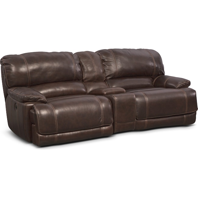 Living Room Furniture - St. Malo 3-Piece Power Reclining Sofa with Console