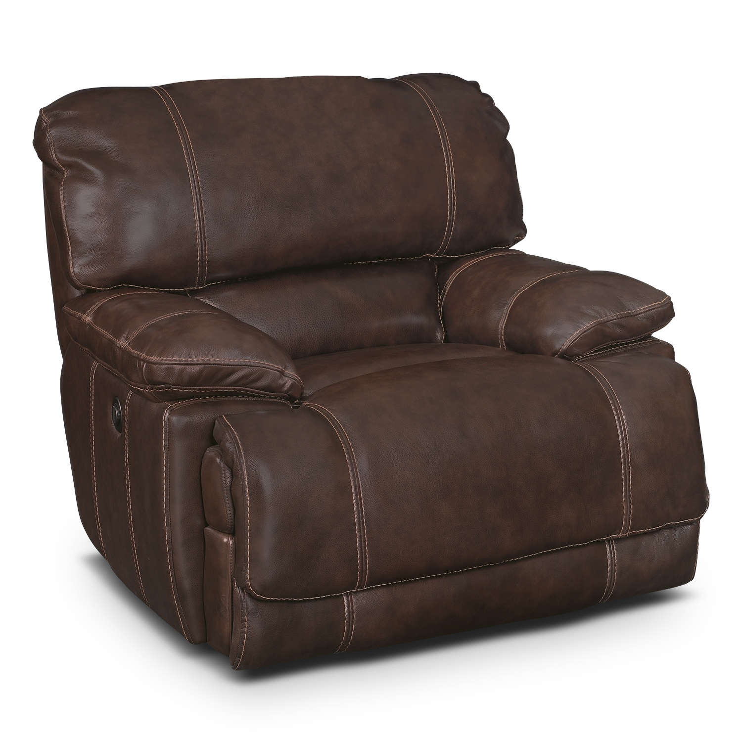St Malo Power Recliner Brown Value City Furniture