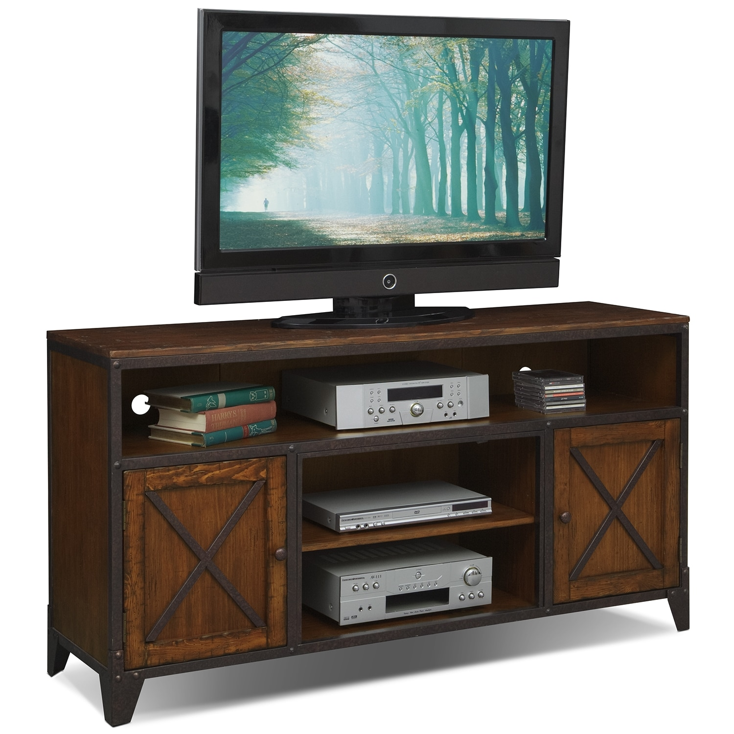[Shortline TV Stand - Distressed Pine]