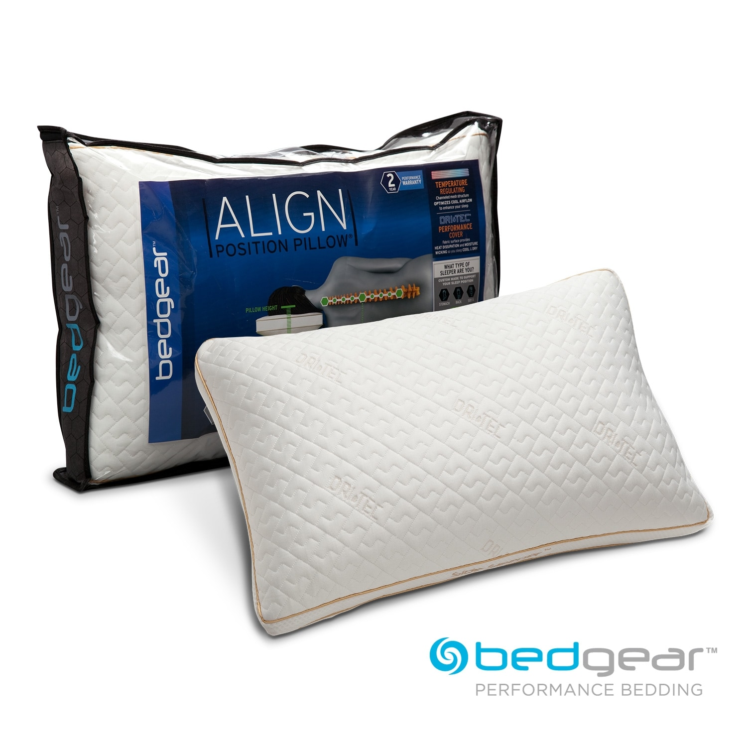 Mattresses and Bedding - Align II Jumbo/Queen Side Sleeper Pillow