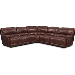 St. Malo 5-Piece Right-Facing Power Reclining Sectional - Burgundy