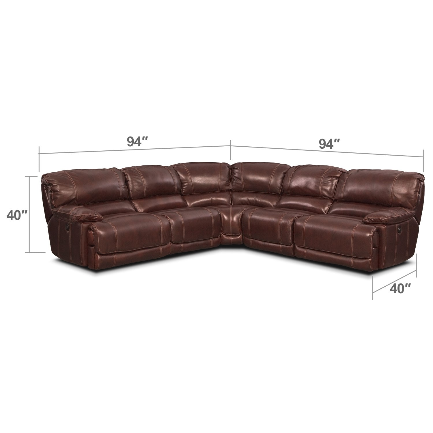 Living Room Furniture - St. Malo III 5 Pc. Power Reclining Sectional