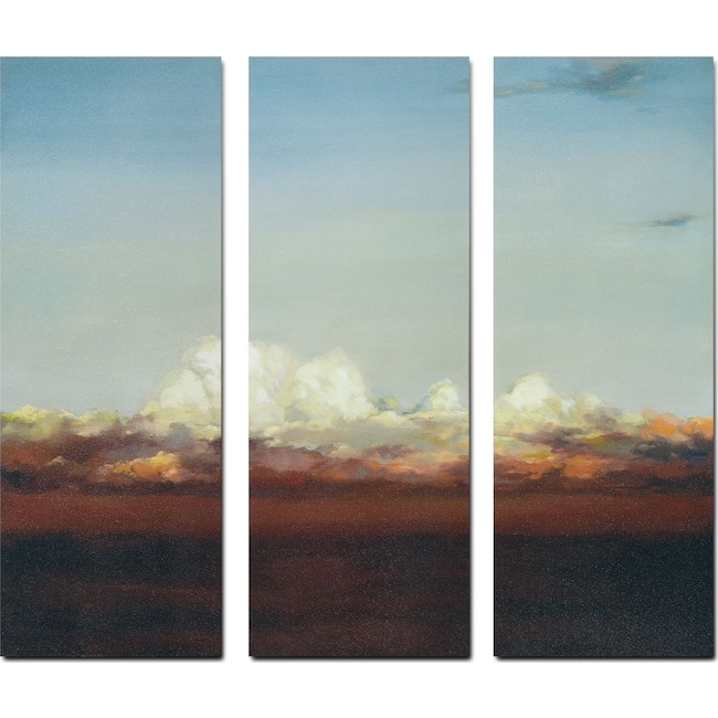 Home Accessories - Copper Skies 3-Piece Canvas Print