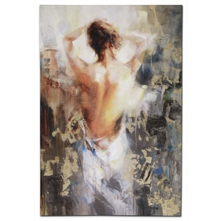 Woman's Back Canvas Print