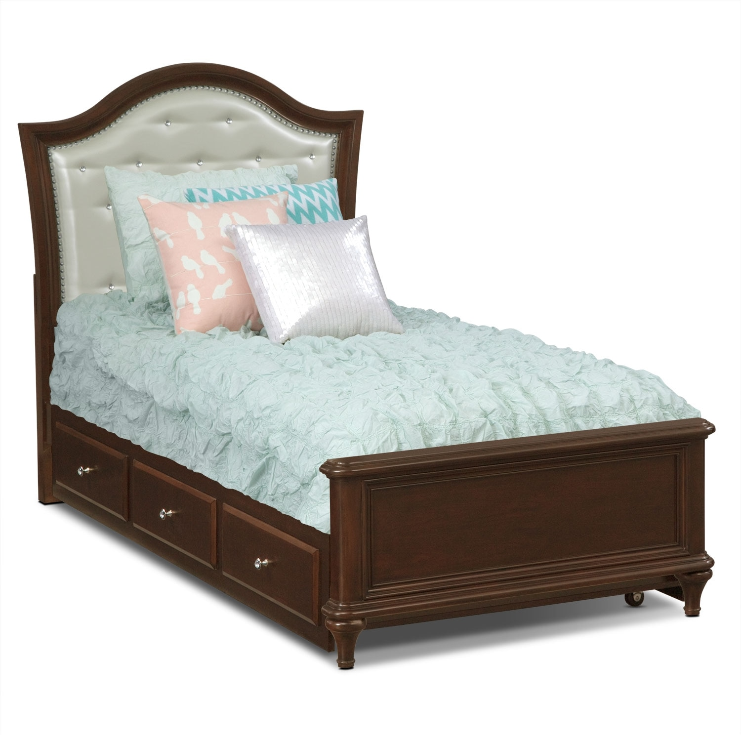 [Juliette Twin Bed with Trundle]
