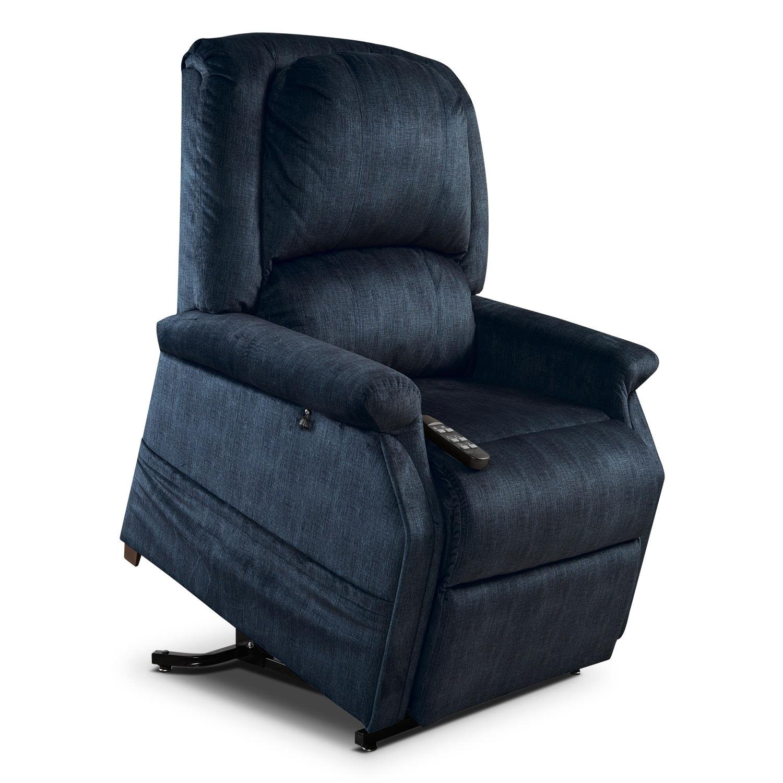 Living Room Furniture - Manny Lift Chair - Denim