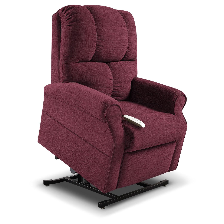 Living Room Furniture - Tillie Lift Chair - Bordeaux