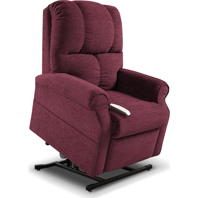 Living Room Furniture - Tillie Lift Chair - Bordeaux