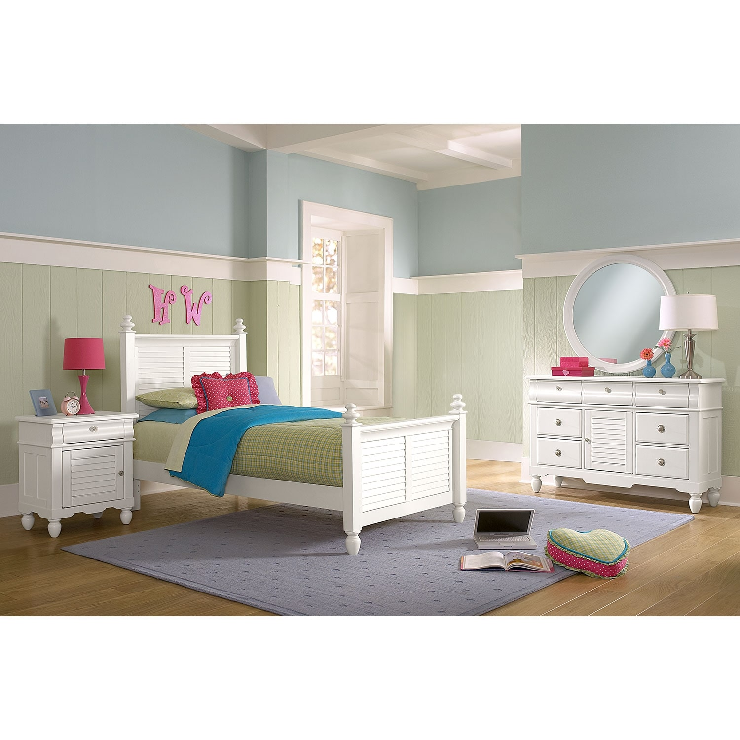 Seaside 6-Piece Twin Bedroom Set - White