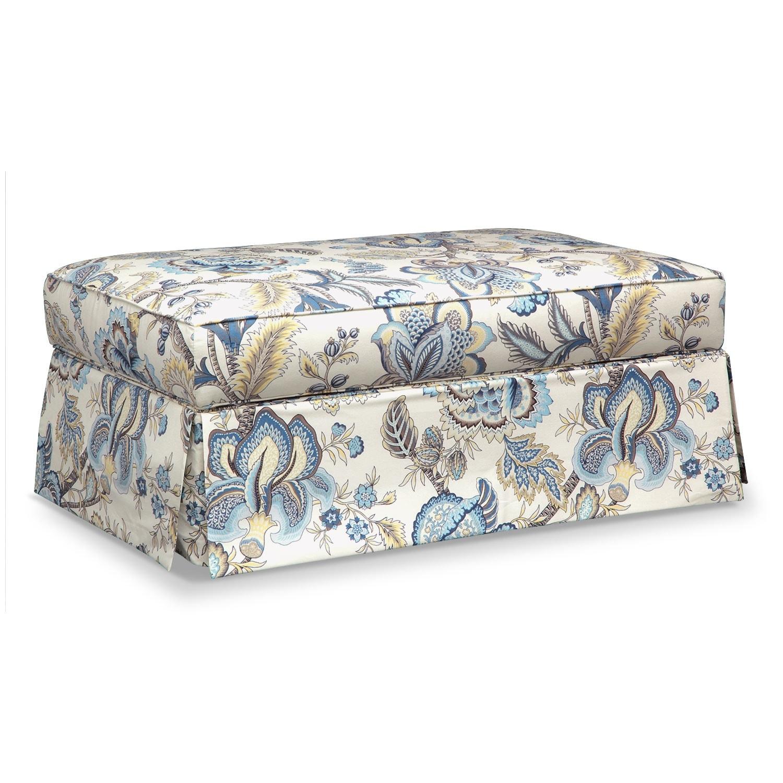 Living Room Furniture - Charlotte III Storage Ottoman