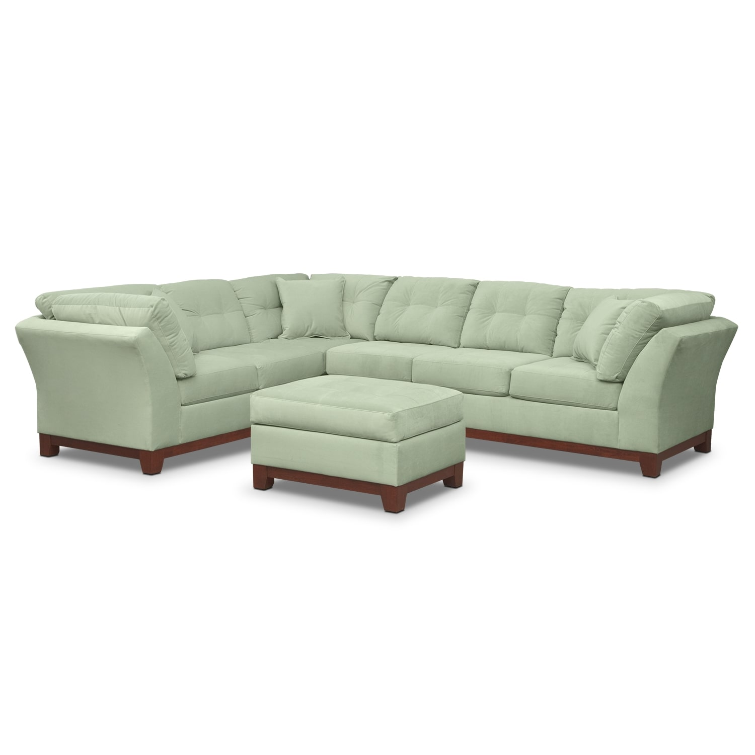 Living Room Furniture - Solace Spa II 2 Pc. Sectional and Ottoman