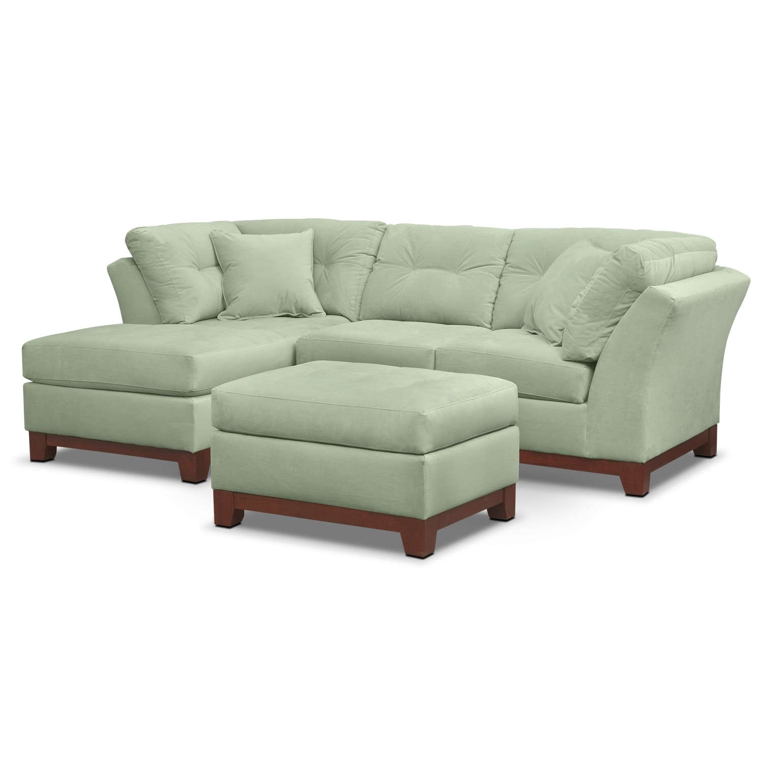 Living Room Furniture - Solace Spa II 2 Pc. Sectional (Alternate) and Ottoman
