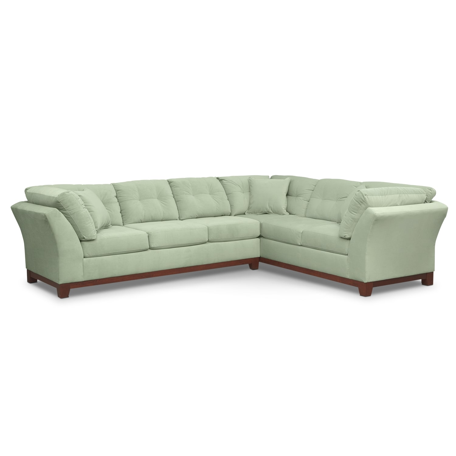 "Solace 2-Piece Left-Facing 132"" Sofa Sectional - Spa"