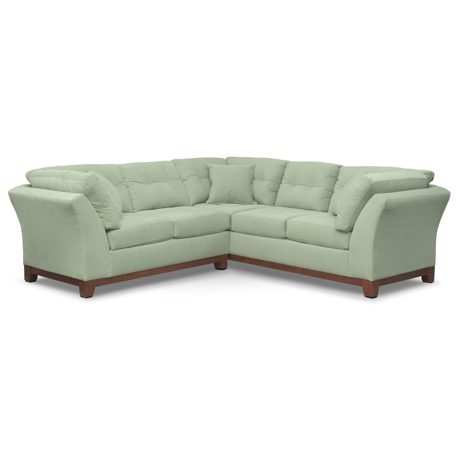 Living Room Furniture - Solace Spa II 2 Pc. Sectional (Alternate II)