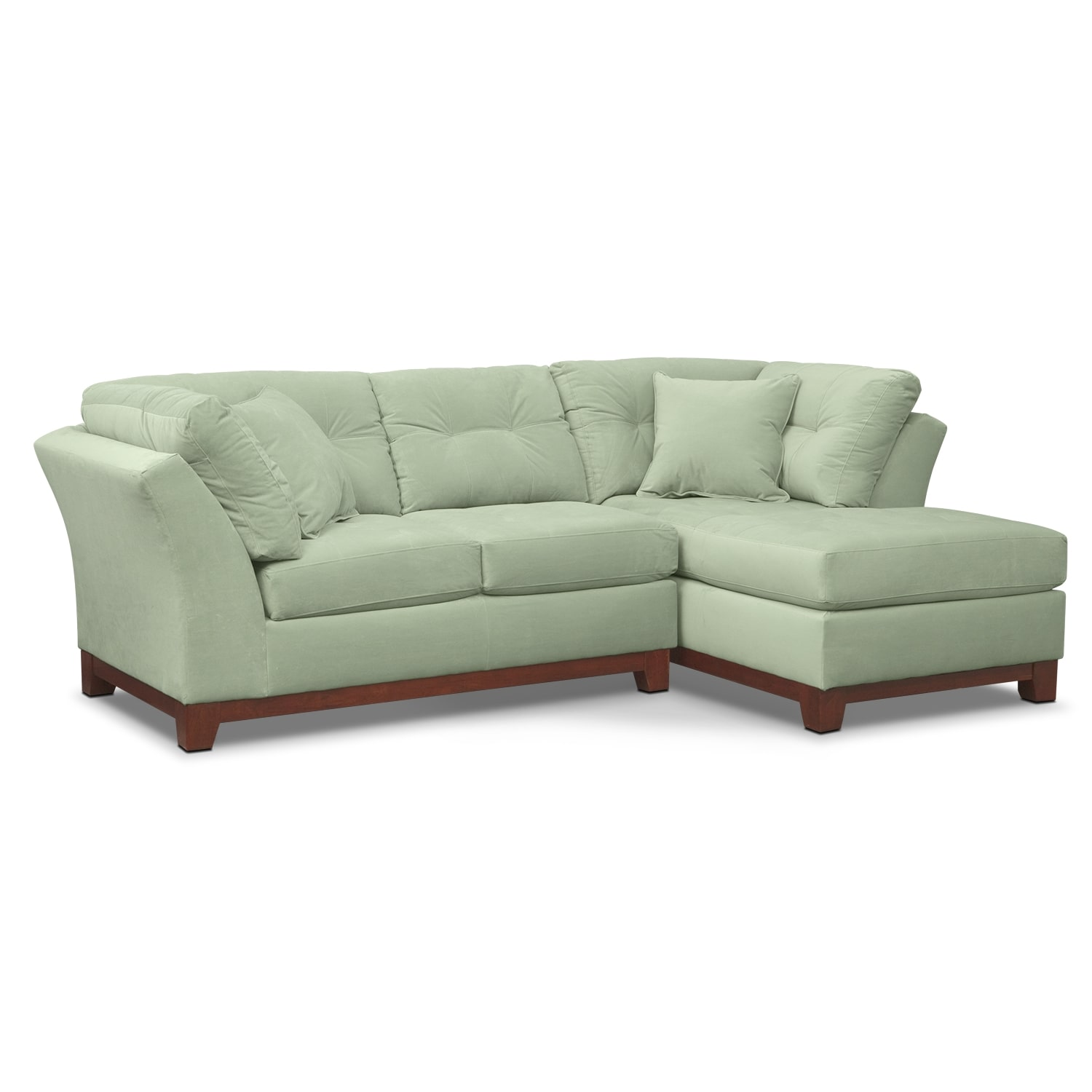 Living Room Furniture - Solace 2-Piece Right-Facing Chaise Sectional - Spa