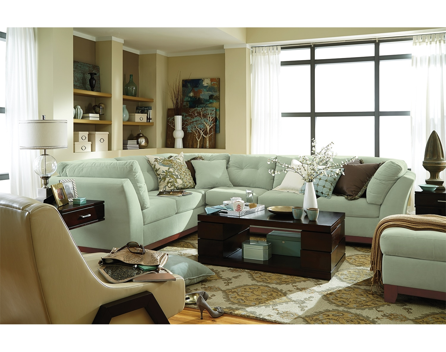 The solace sectional collection spa value city furniture