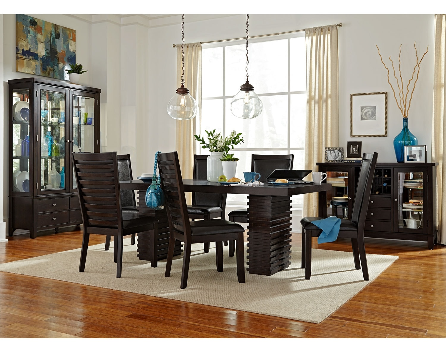 the paragon collection merlot and brown 31999 paragon dining table merlot - Dining Room Sets Value City Furniture