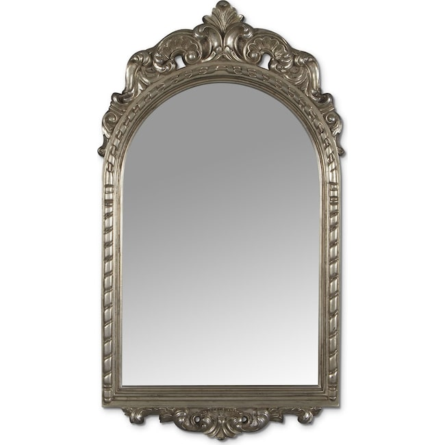 Home Accessories - Kelsey Mirror - Antique Silver
