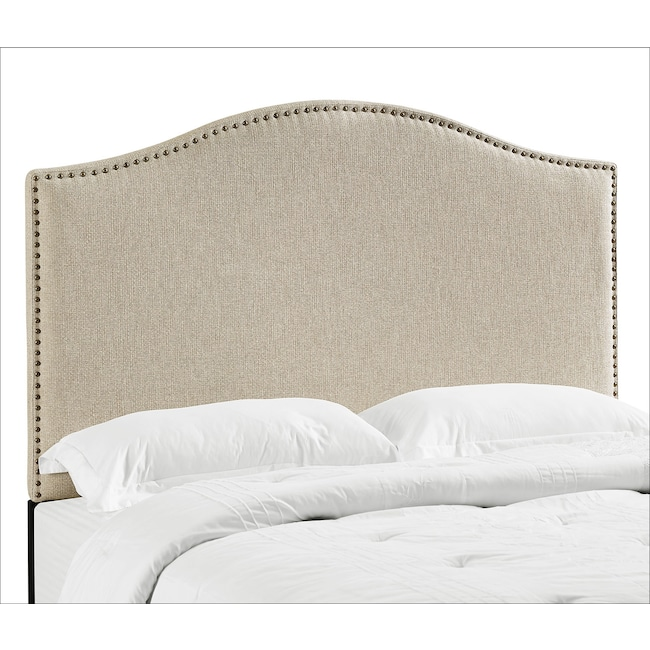 Bedroom Furniture - Wyatt Full/Queen Headboard - Linen