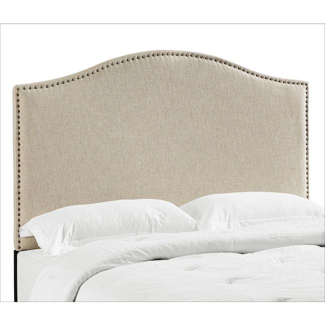 Bedroom Furniture - Wyatt Full/Queen Headboard - Linen