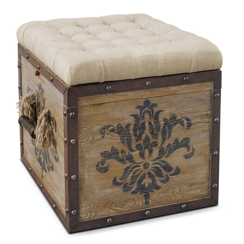 Teca Storage OttomanRusticValue City Furniture