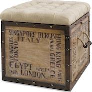 Teca Storage Ottoman