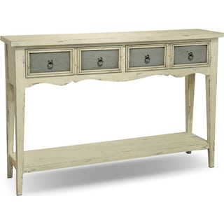 Baylee Sofa Table - Antique White and Gray