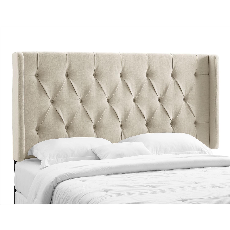 Bedroom Furniture   Winston King/California King Upholstered Headboard    Cream