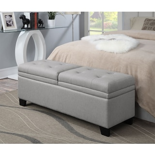 Bella Marmor Storage Bench - Gray