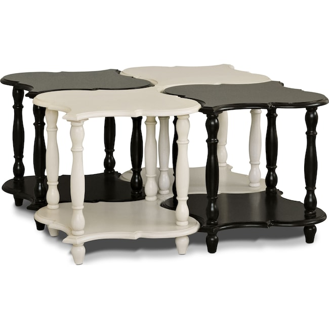 Accent and Occasional Furniture - Ansel 4-Pack Accent Tables