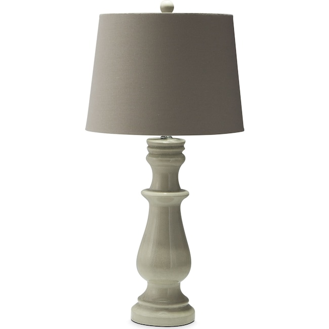 Home Accessories - Ivory Ceramic Table Lamp