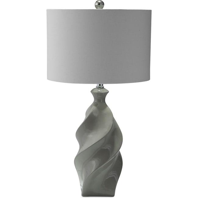 Home Accessories - Gray Ceramic Table Lamp