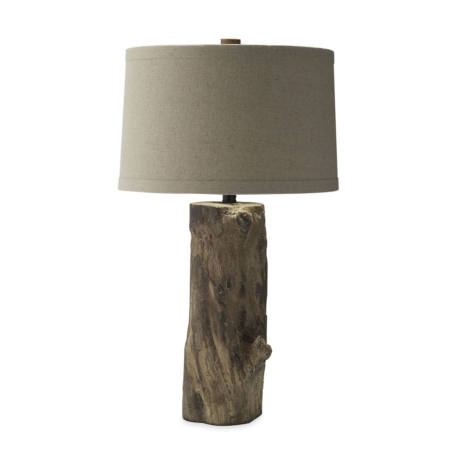 Faux Wood Stump Table Lamp