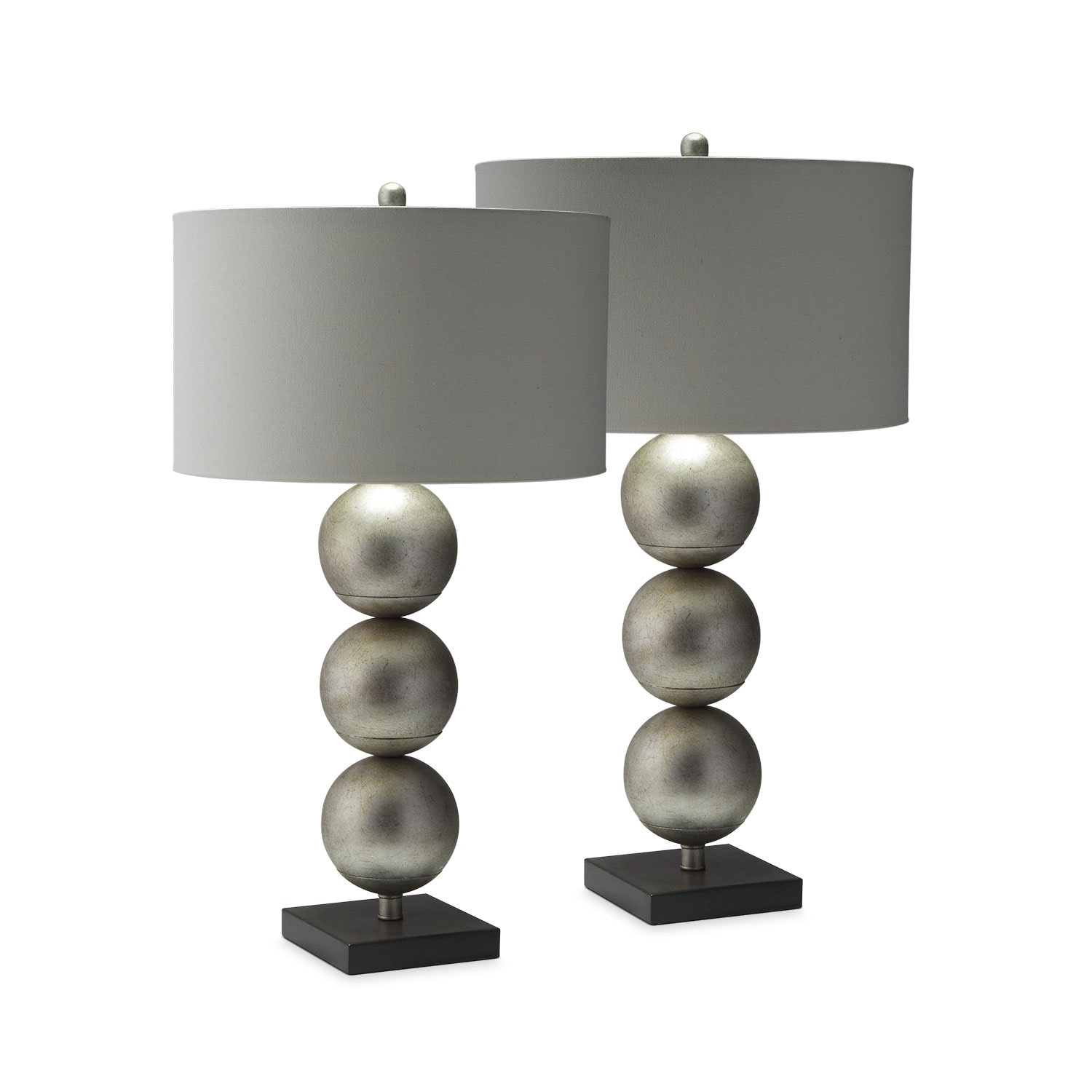 Three Orb 2-Pack Table Lamp Set