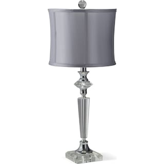 Crystal Silver Table Lamp