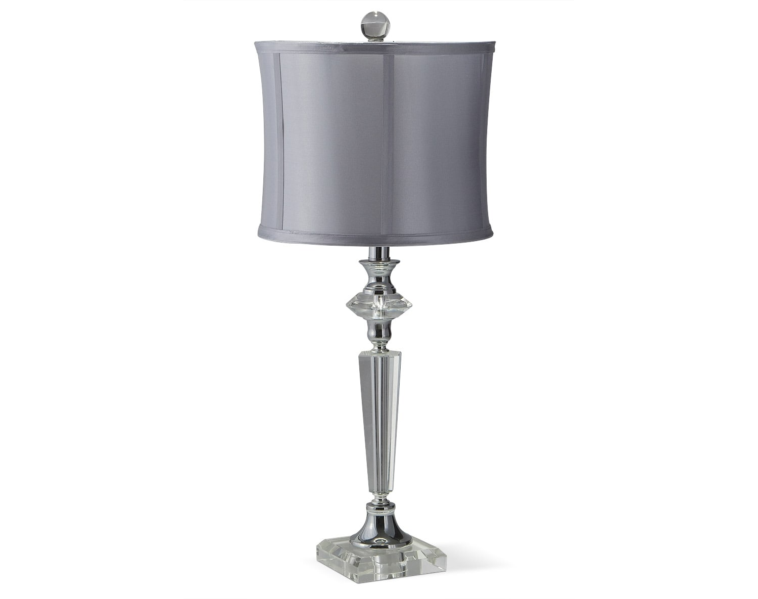 Crystal Silver Table Lamp Collection Value City Furniture And