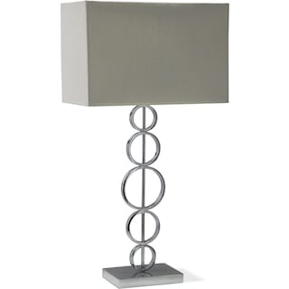 Chrome Circle Table Lamp