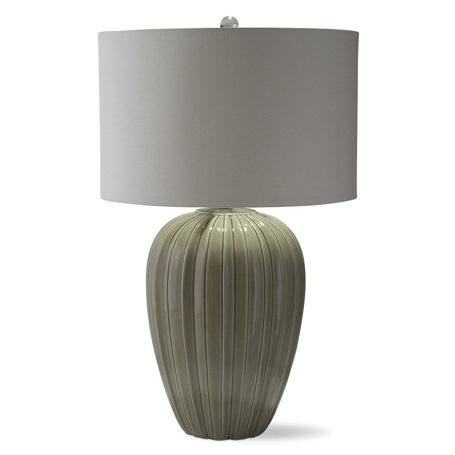 Home Accessories - Gray Brown Ceramic Table Lamp