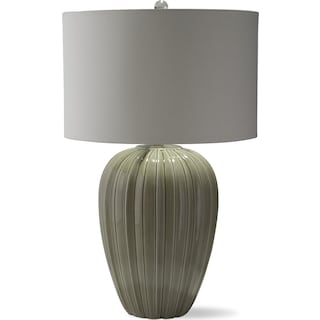 Gray Brown Ceramic Table Lamp