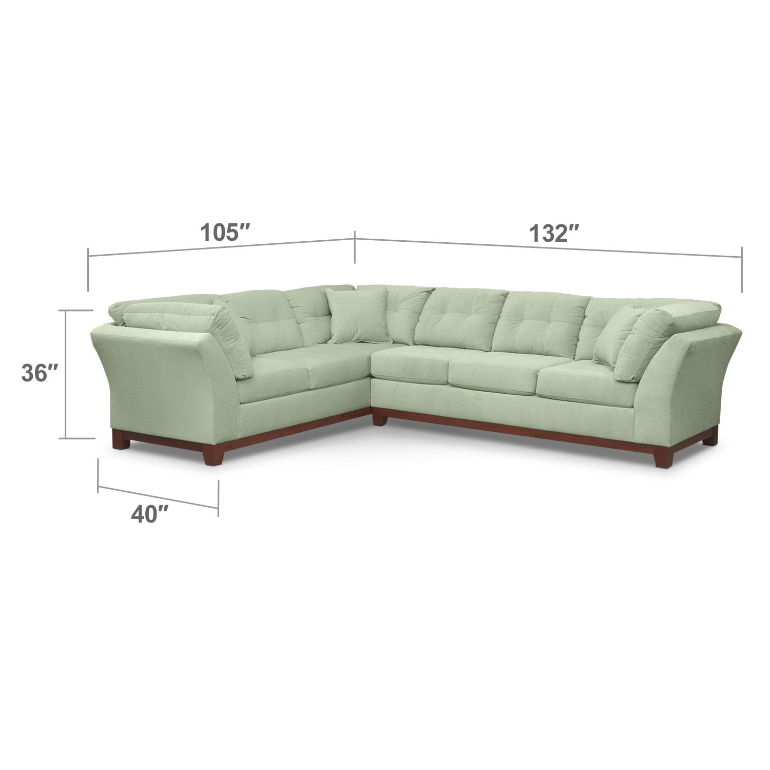 Living Room Furniture - Solace Spa II 2 Pc. Sectional