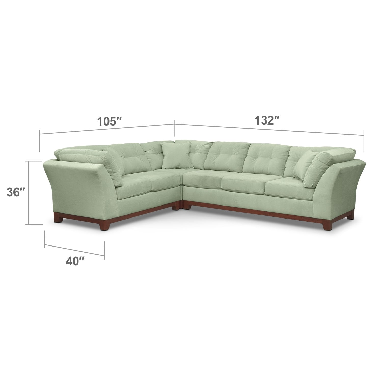 Living Room Furniture - Solace Spa II 3 Pc. Sectional