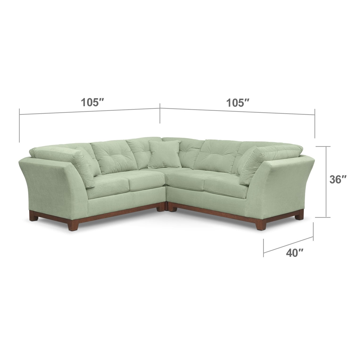 Living Room Furniture - Solace 3-Piece Sectional - Spa